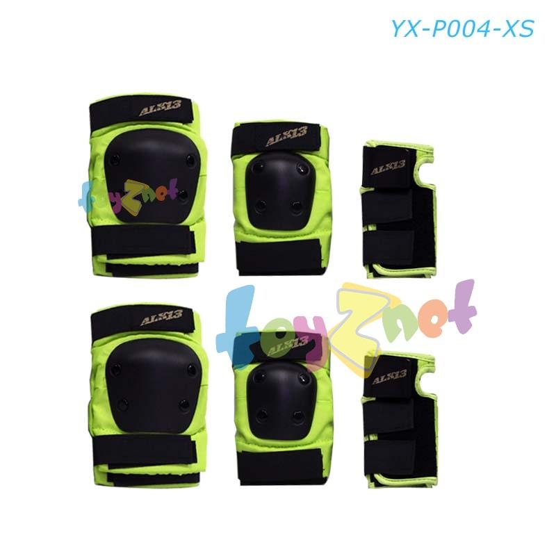 ชุดสนับป้องกันเข่า-ข้อศอก-ข้อมือ สีเขียว รุ่น YX-P004-XS