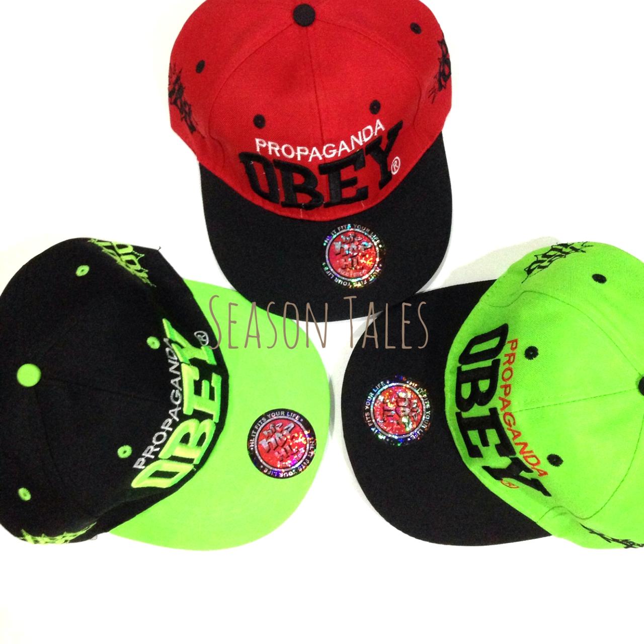 หมวกฮิปฮอป HipHop Snapback ปัก OBEY