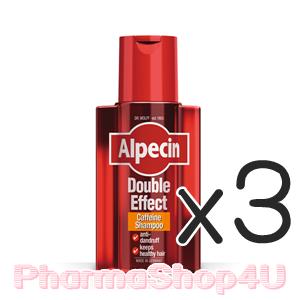 (ซื้อ3 ราคาพิเศษ) Alpecin Double Effect Caffeine Shampoo 200mL อัลเปซิน คาเฟอีนป้องกันผมร่วงพร้อมสารกำจัดรังแค เพื่อผมสุขภาพดี ลดเคราตินเซลล์ที่เป็นสะเก็ด