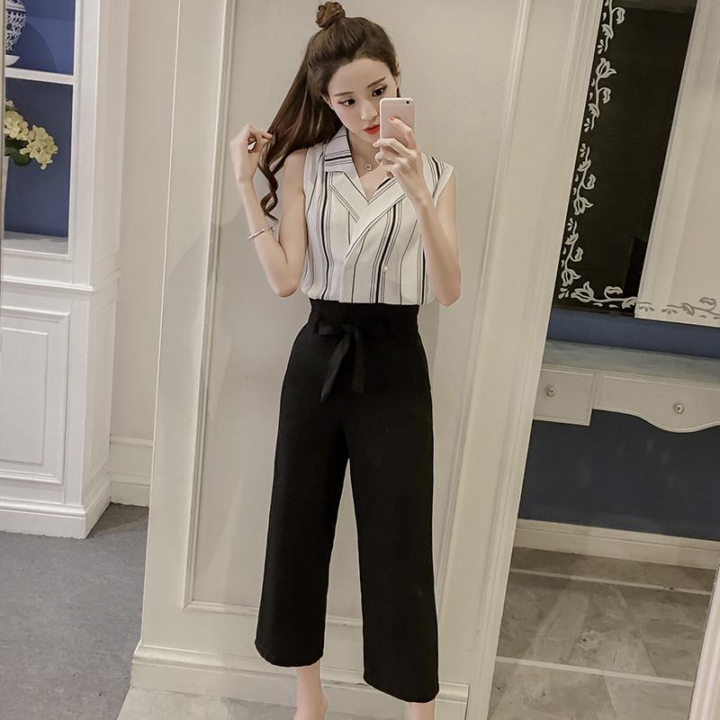 ชุดเซ็ทเสื้อ-กางเกงขายาวสีดำ สไตล์สวย เท่ ดูดี
