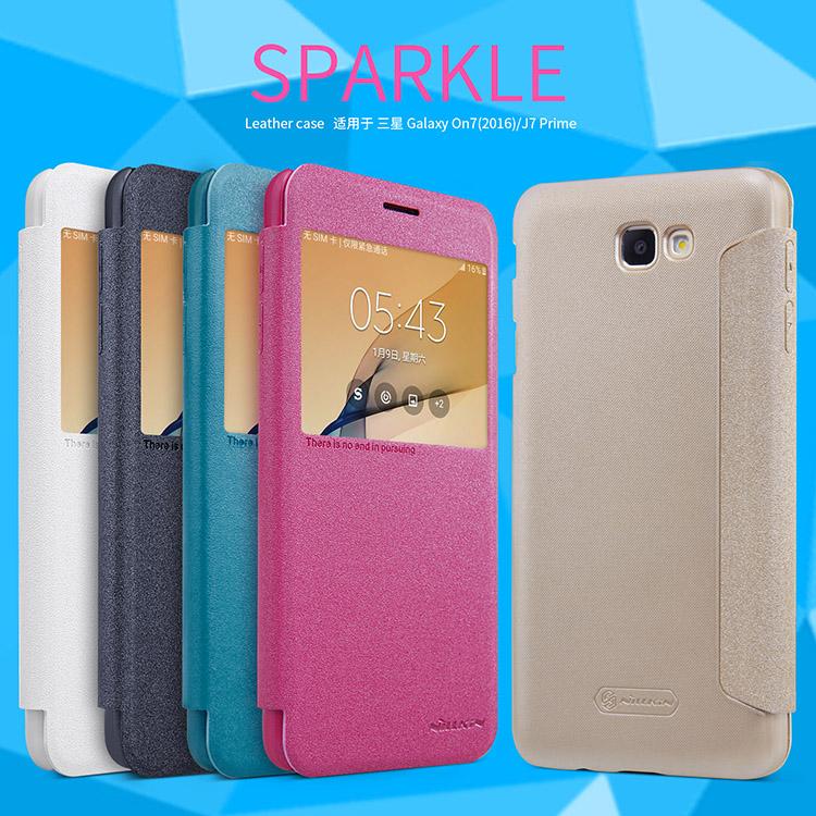 เคสฝาพับ NILLKIN Sparkle Leather Case Galaxy J7 Prime