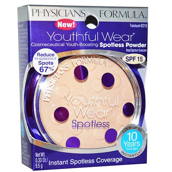 Physicians Formula Youthful Wear Cosmeceutical Youth-Boosting Spotless Powder SPF15 #Illuminating Finish Translucent แป้งหน้าเด็ก รุ่นใหม่