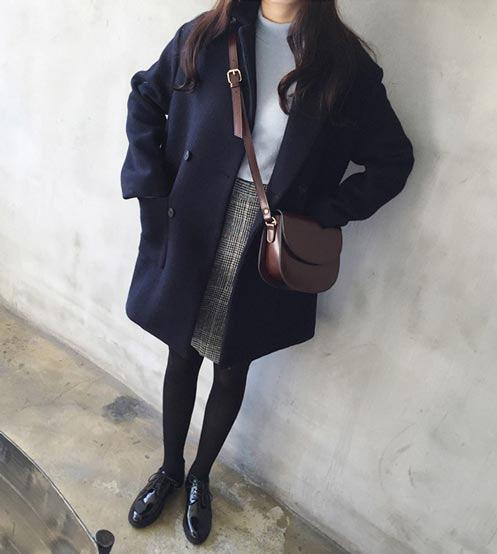 เสื้อโค้ทกันหนาวผู้หญิง สีกรม ยาวคลุมสะโพก ซับในบุนุ่ม ใส่เที่ยวต่างประเทศ รับลมหนาว สวยๆ