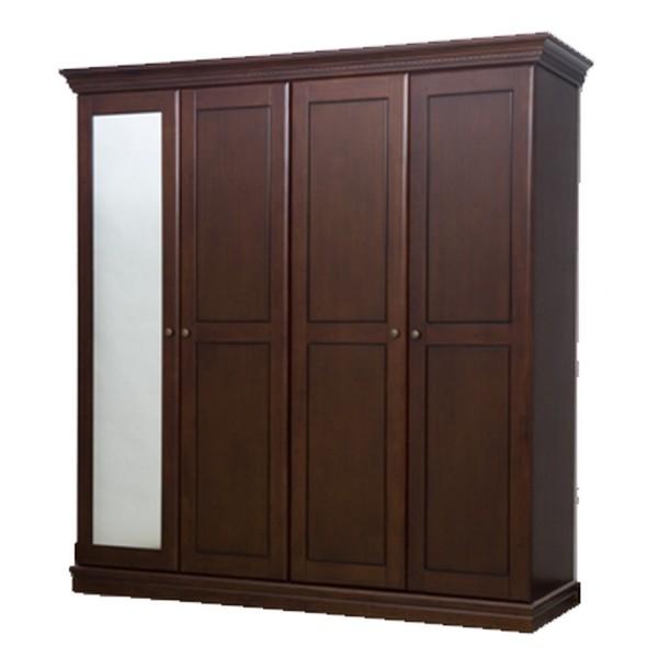 ตู้ผ้า 4 ประตู ฟลอเร้นซ์ (กระจก 1 บาน) PNP-408 MAX