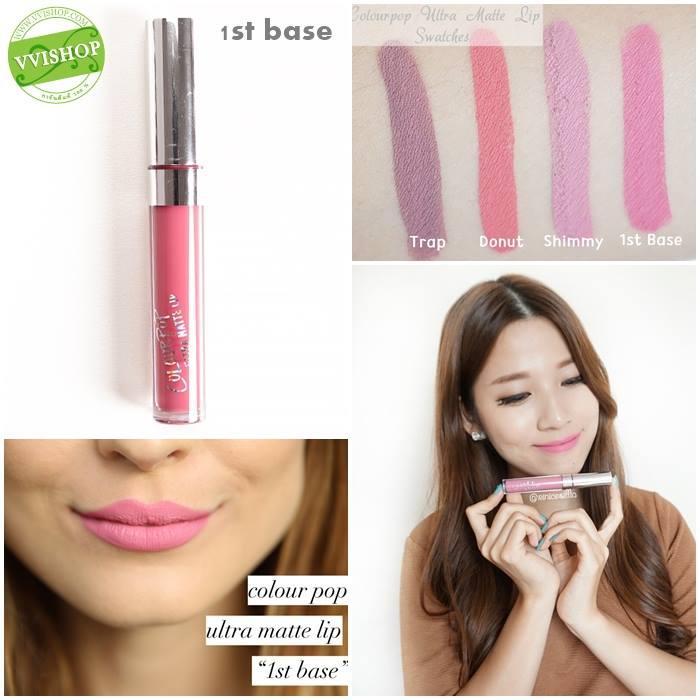 Colourpop Ultra Matte Lip #1st Base : โทนชมพูนมๆ หวานๆ