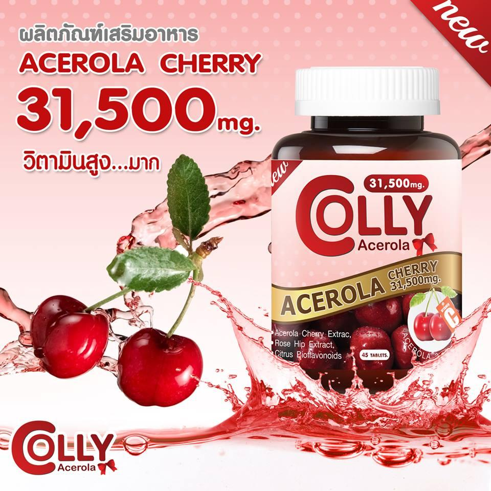 Colly Acerola Cherry 31,500mg. บรรจุ45Tablets