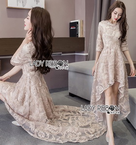 Lady Ribbon Vanessa Super Elegant Frill Embroidered Tulle Dress