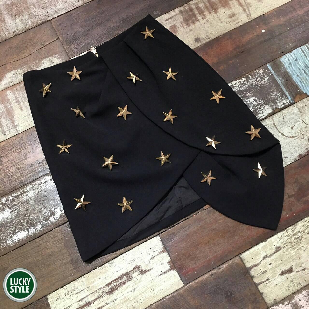 *กระโปรง Mini Skirt ติดอะไหล่ดาวสีทอง ⭐️