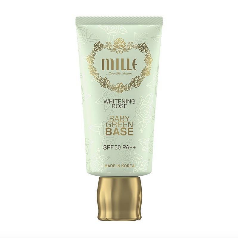 Mille Super Whitening Rose Baby Green Base SPF 30 PA+++