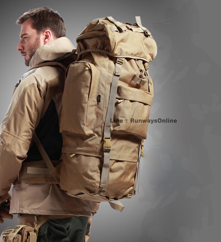 เป้ Backpack 65 ลิตร - สีทราย