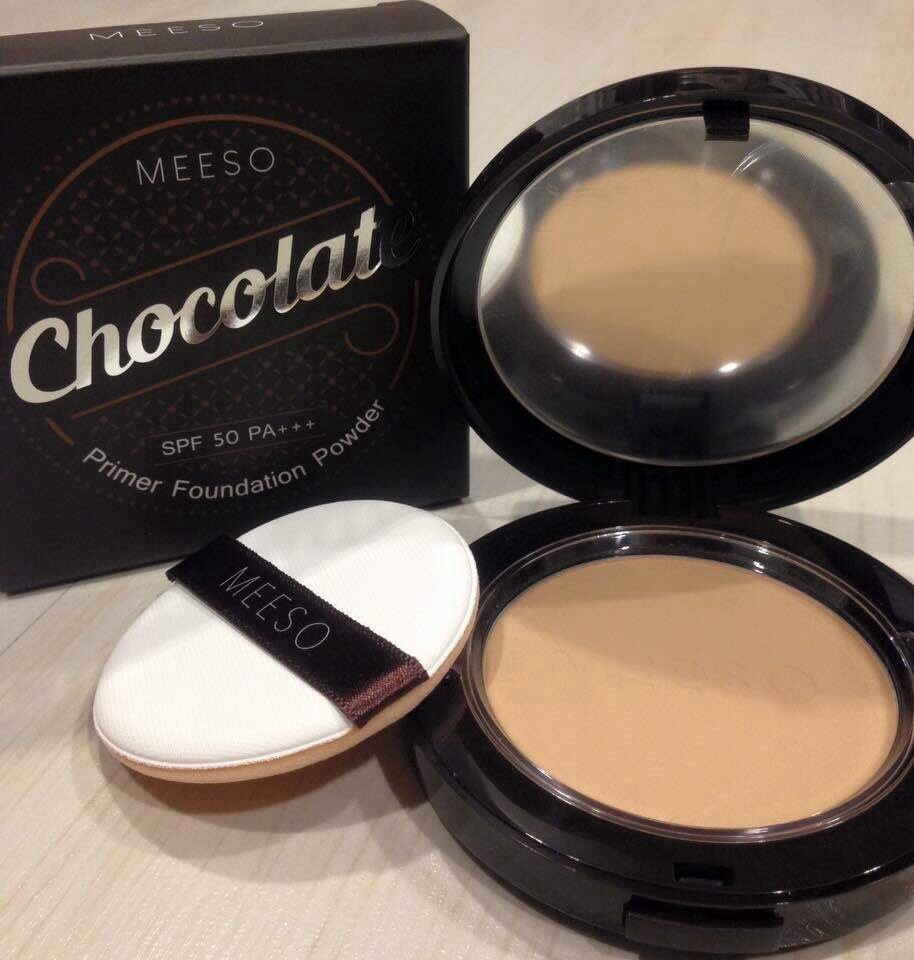 #MEESO Chocolate Primer Foundation Powder SPF 50 PA+++