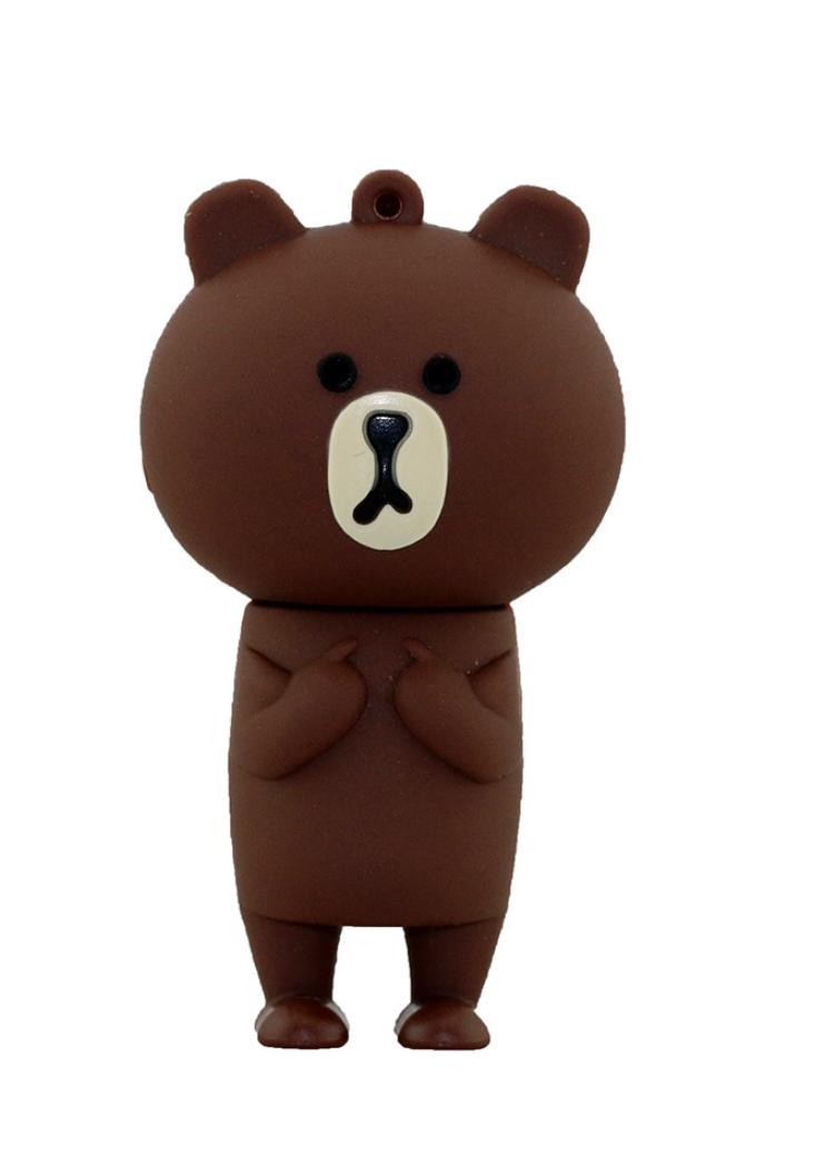 แฟลชไดร์ฟไลน์ หมีบราวน์ (Line Brown) 16 GB