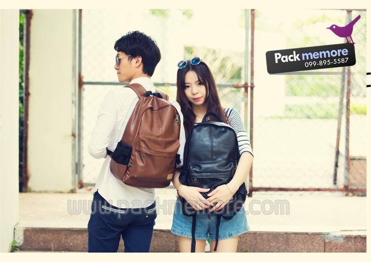 """กระเป๋าเป้โน๊คบุ๊ค หนัง PU รุ่น Blackout สำหรับหน้าจอ 13-15.6"""" หรือ macbook"""