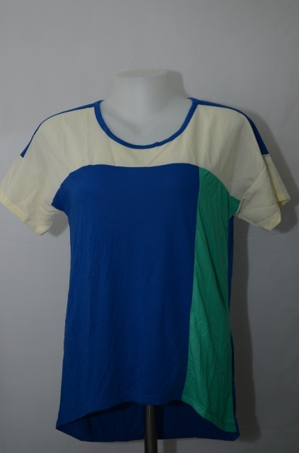BLUE CORNER เสื้อ T-shirt เนื้อผ้ายืดผสมชีฟอง