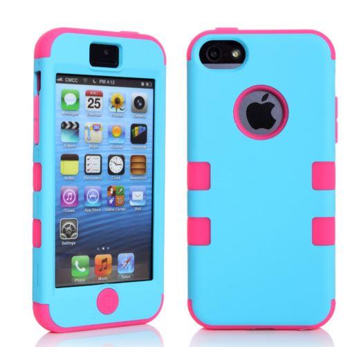 เคสไอโฟน 5c เคสซิลิโคน+พลาสติก สีสันสวยงาม