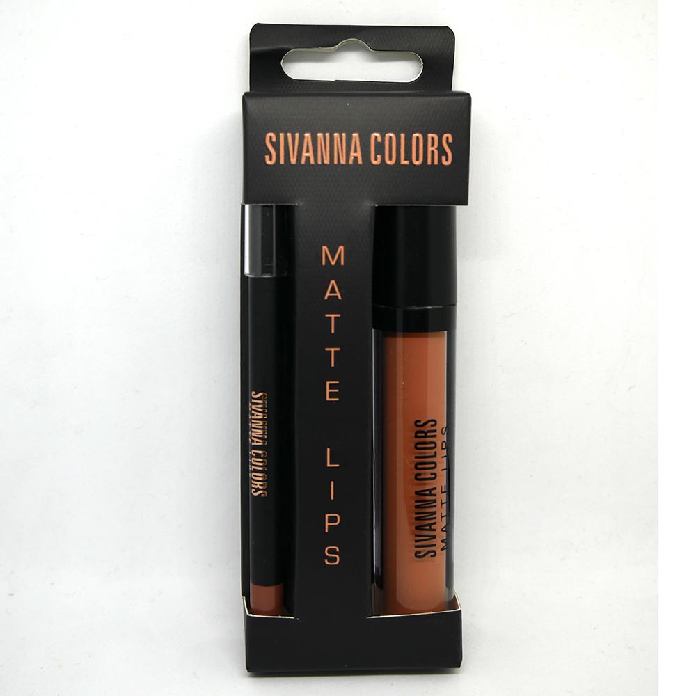 SIVANNA COLORS Matte Lip 2in1 Stick liner เบอร์ 04
