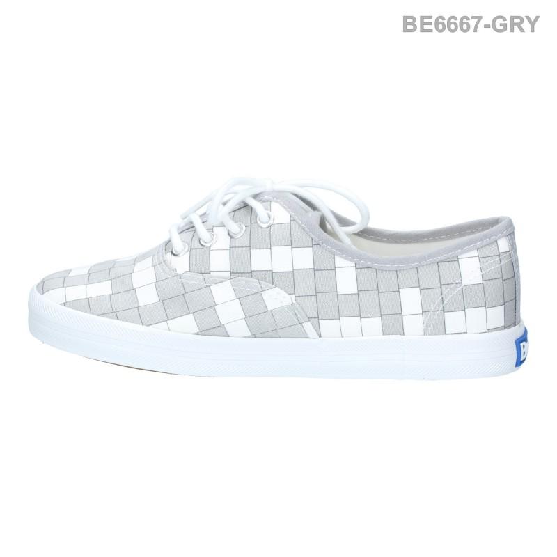 พร้อมส่ง รองเท้าผ้าใบแฟชั่น BE6667-GRY [สีเทา]