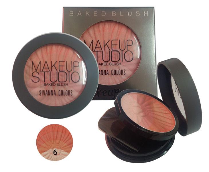 ปัดแก้ม Sivanna Colors Make up Studio Baked Blush No.6
