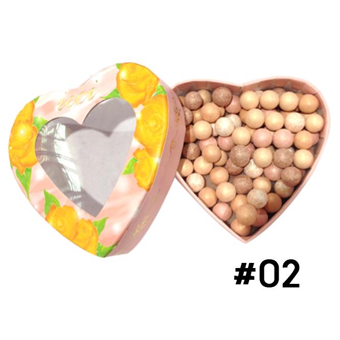 ปัดแก้มลูกบอล ICCI Magic Ball Powder รูปหัวใจ No.02