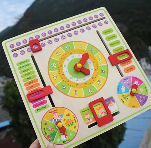 ของเล่นไม้ปฏิทินนาฬิกา บอกว้น เดือน ปี เวลา ฤดู