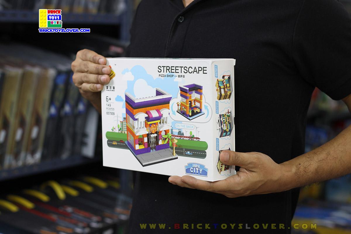 657009 Mini City StreetScape ของเล่นตัวต่อร้านพิซซ่า Pizza Shop