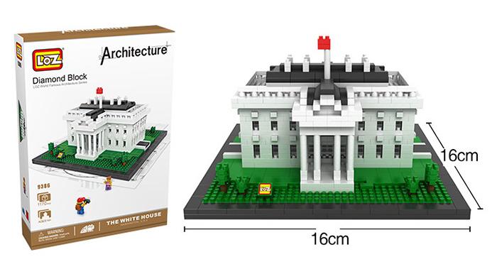 มินิบล็อก LOZ เลโก้จีน 9386 ราคาถูก The White House ขนาด