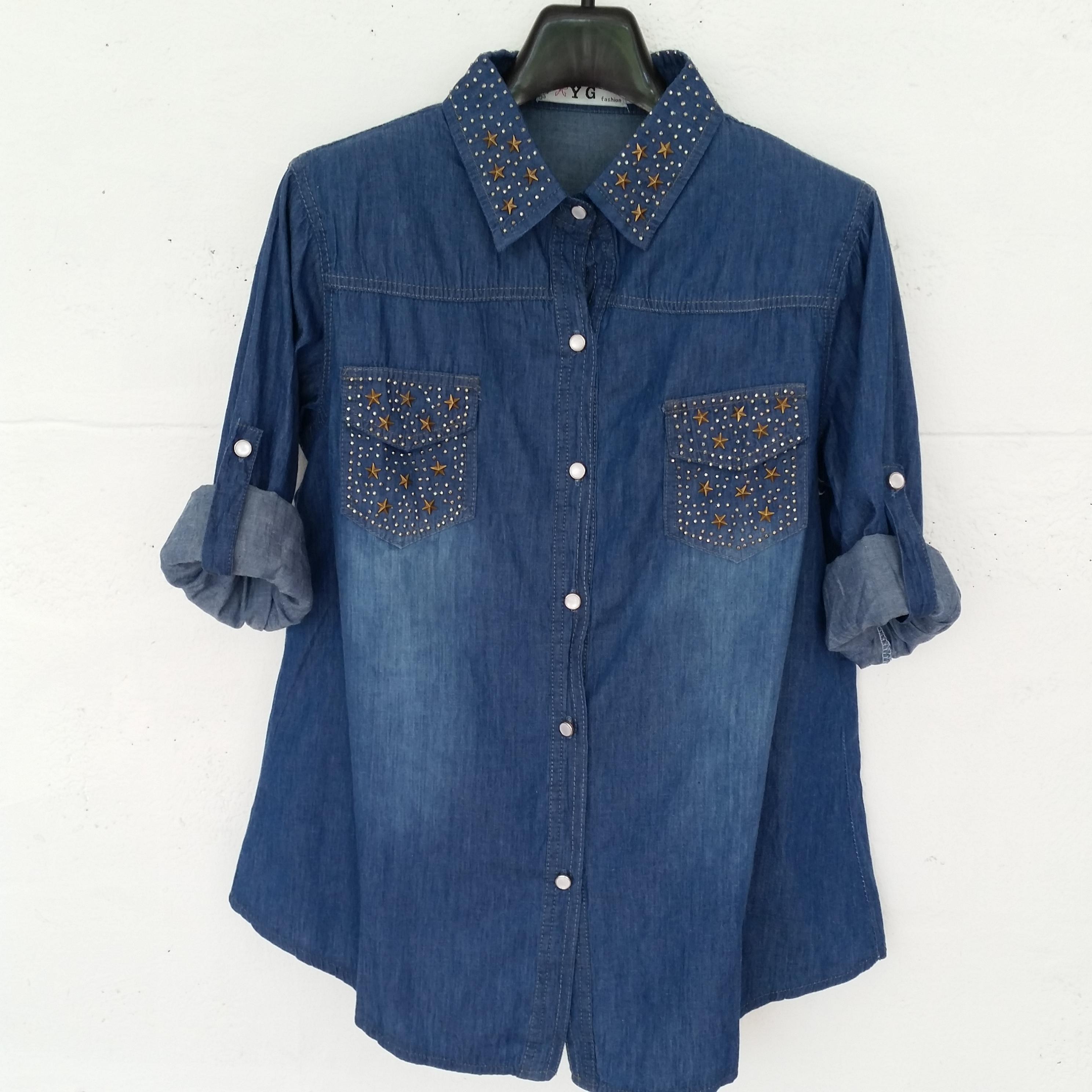เสื้อยีนส์เชิ้ตแฟชั่น#L