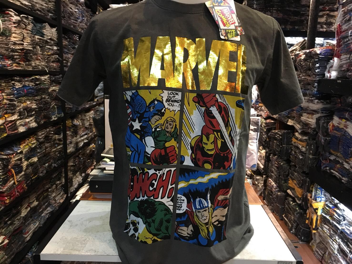 มาร์เวล สีเทา (Marvel logo gold Hero)