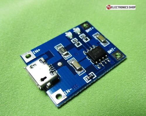 ชุดควบคุมการชาร์ทไฟ แบตเตอรี่ลิเธียม 3.7 โวลต์ MICRO USB