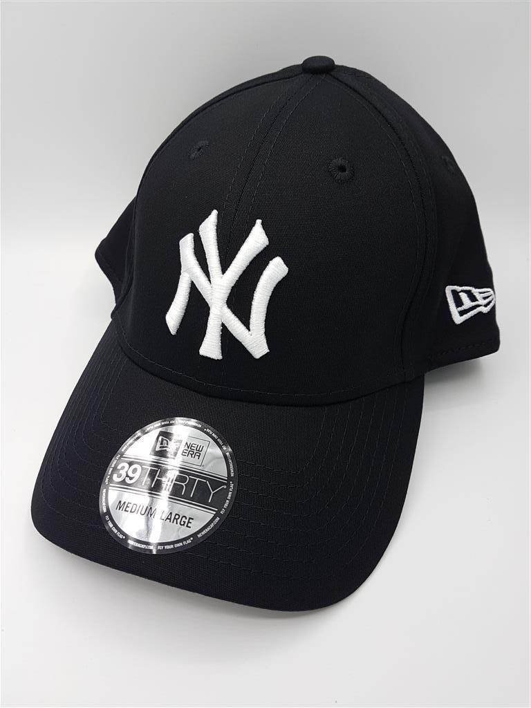New Era NY Yankees รุ่น 39Thirty (ด้านหลังปิด) สีดำ Black ( ไซส์ M-L 58-61cm )