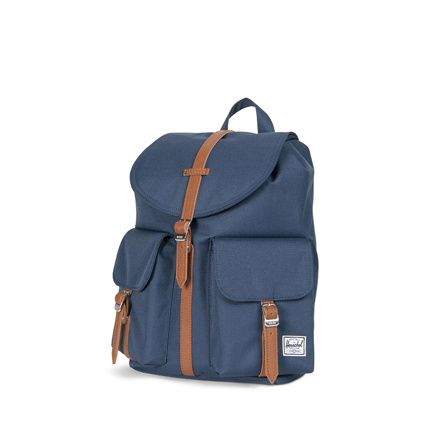 Herschel Dawson Backpack | XS - Navy / Tan - ด้านข้าง