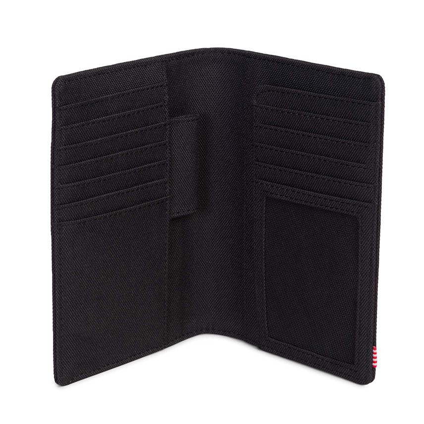 Herschel Search Passport Holder - Black / RFID - ด้านใน