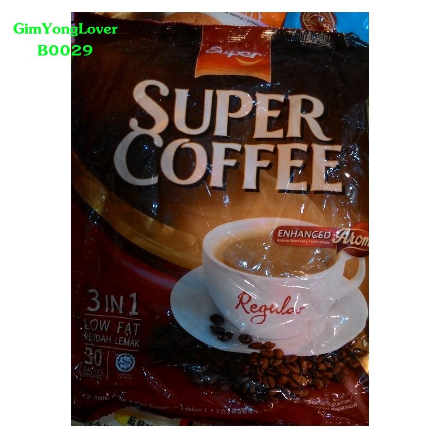 Super Coffee กาแฟสำเร็จรูป 3in1 (Super Coffee Regular Low Fat)