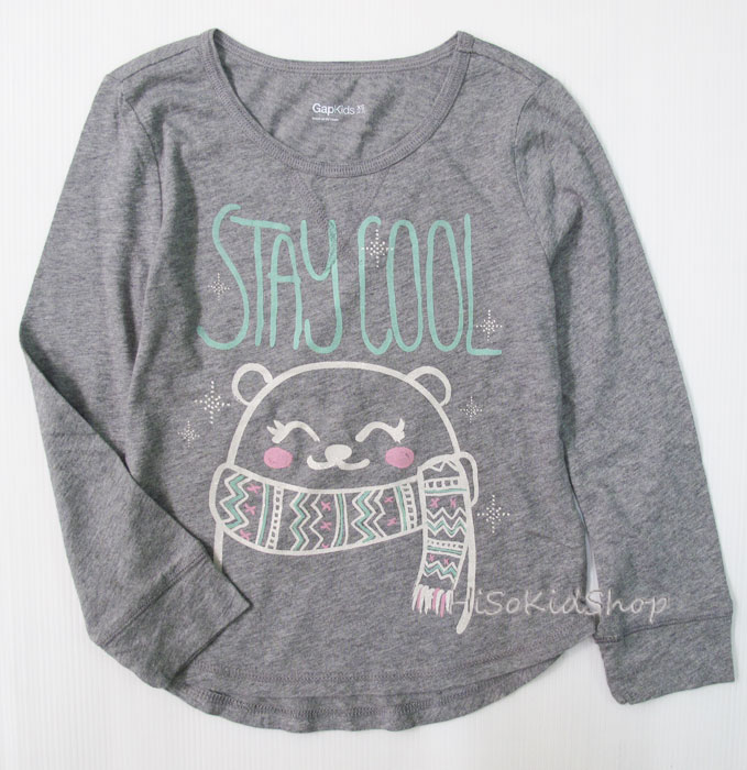 1255 Gap Kids Long Sleeve - Grey ขนาด 4-5 ปี