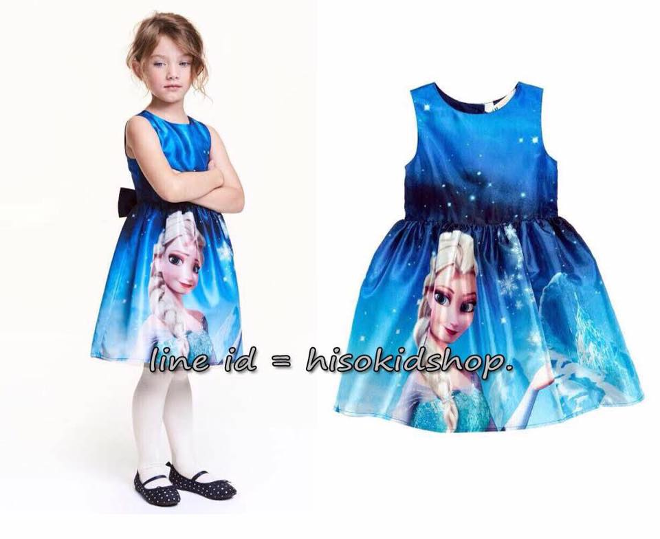 1772 H&M Frozen Dress - Blue ขนาด 2-14 ปี