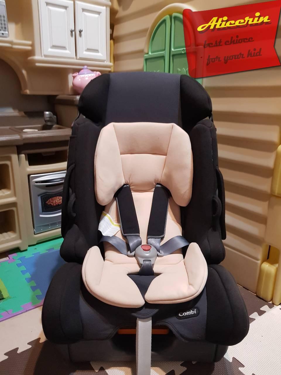 คาร์ซีท Combi : Prim long S BK สำหรับเด็กแรกเกิด-7ขวบ พร้อมเบาะเสริมแท้