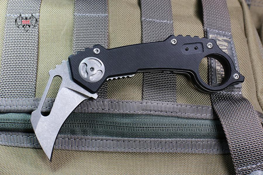 """Quartermaster """"T.C."""" Karambit Knife (Stonwashed) QTR-5F"""