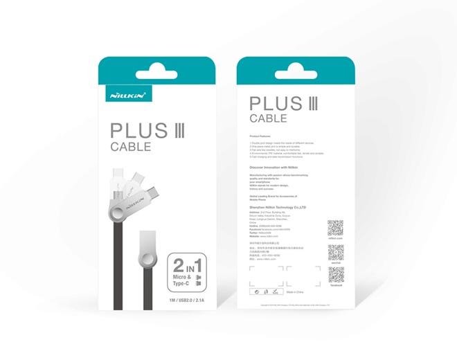 Nillkin Plus 3 Cable (Micro USB & Type-C),USB Type-C,สายชาร์จและซิงค์ข้อมูล Nillkin