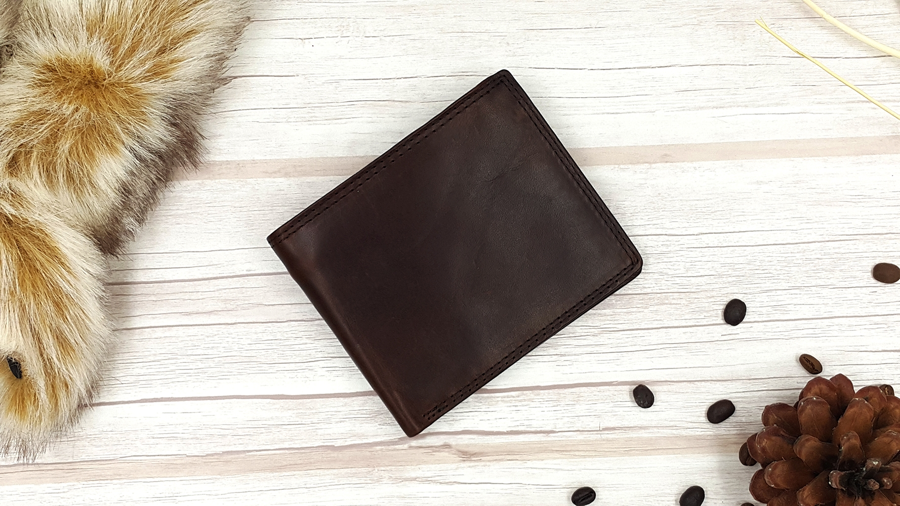 M Short Leather Brown