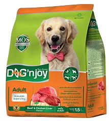 Dog'njoy สูตรสุนัขโตพันธุ์กลาง-ใหญ่ รสเนื้อ-ตับ 20กิโลกรัม ส่งฟรี