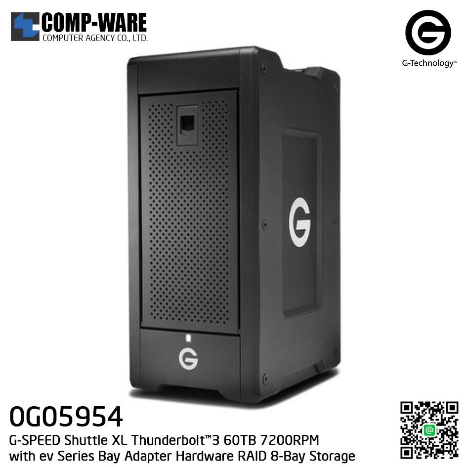 G-Technology G-SPEED Shuttle XL Thunderbolt™3 60TB 7200RPM with ev Series Bay Adapter Hardware RAID 8-Bay Storage Solution - 0G05954