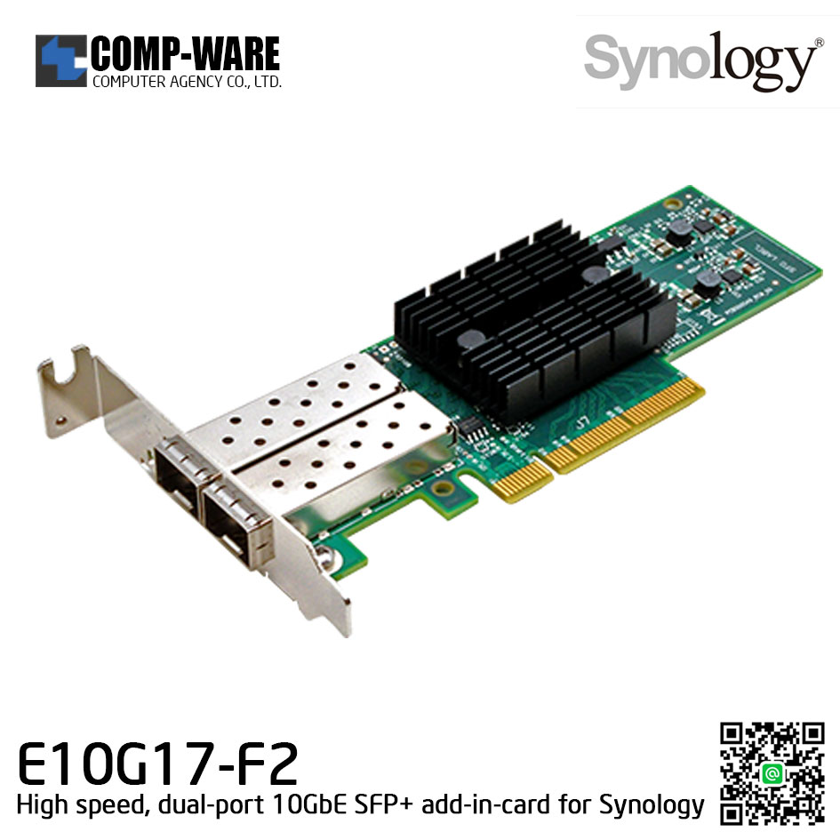 Synology 10GbE Network Card E10G17-F2 Dual-port 10 Gigabit SFP+ PCIe 3.0 x8 Ethernet adapter