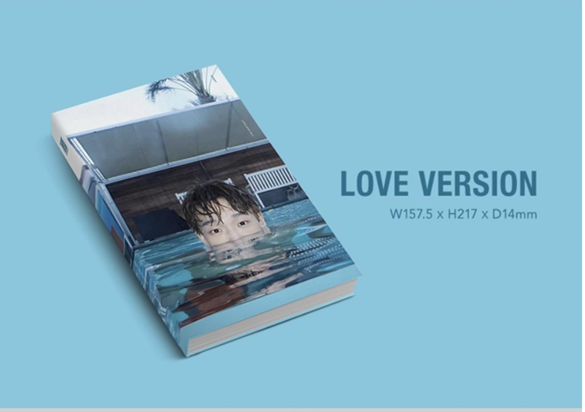 iKON : BOBBY - SOLO ALBUM VOL.1 [LOVE AND FALL] หน้าปก LOVE ver