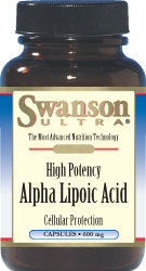 Swanson Ultra Alpha Lipoic Acid 600 mg 60 Capsules