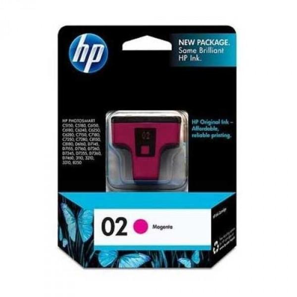 HP INK 02 MAGENTA สีแดง