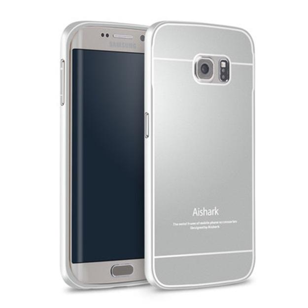 (พร้อมส่ง)เคสมือถือซัมซุง Case Samsung S6 edge เคสพรีเมี่ยมกรอบโลหะพื้นหลังอะคริลิคสีสไตล์โลหะ