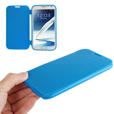เคส ฝาพับ Flip TPU case note2 (Blue)