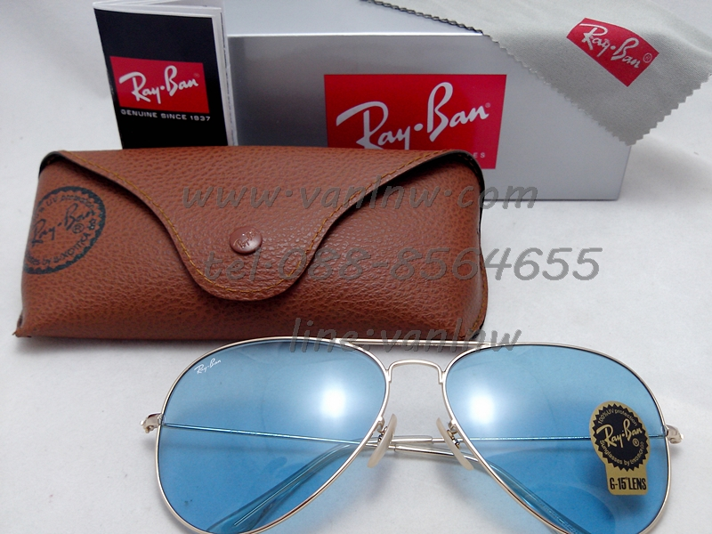 RB 3026 Aviator Large Metal 001/30 62-14 2N <สีฟ้าอ่อน>