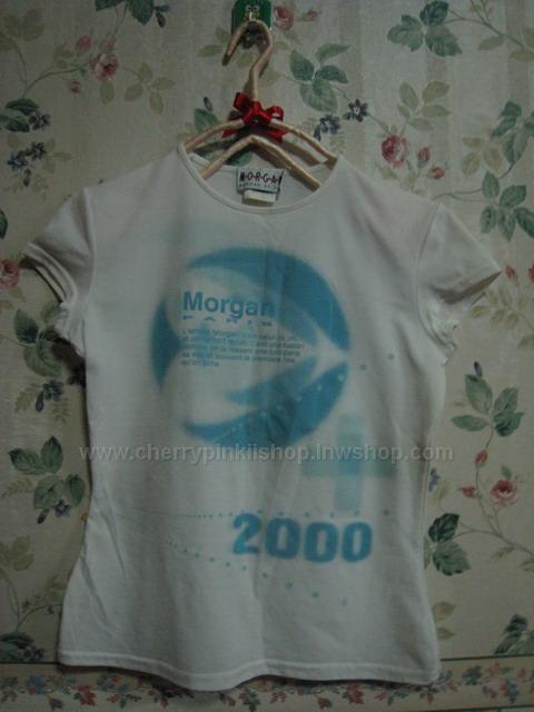 เสื้อยืด Morgan สีขาว สกรีน 2000