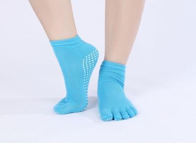 ถุงเท้าโยคะ หุ้มนิ้ว สีฟ้า